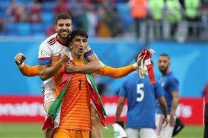 بیرانوند - دیدار ایران و مراکش