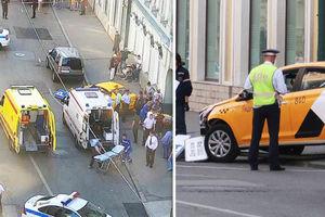فیلم/ لحظه برخورد وحشتناک تاکسی با عابران در مسکو