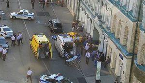 عکس/ حمله خودرو تاکسی به عابران پیاده در مسکو