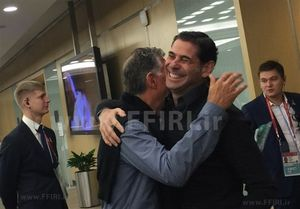 عکس/ دو ملاقات متفاوت کیروش و فرناندو هیرو