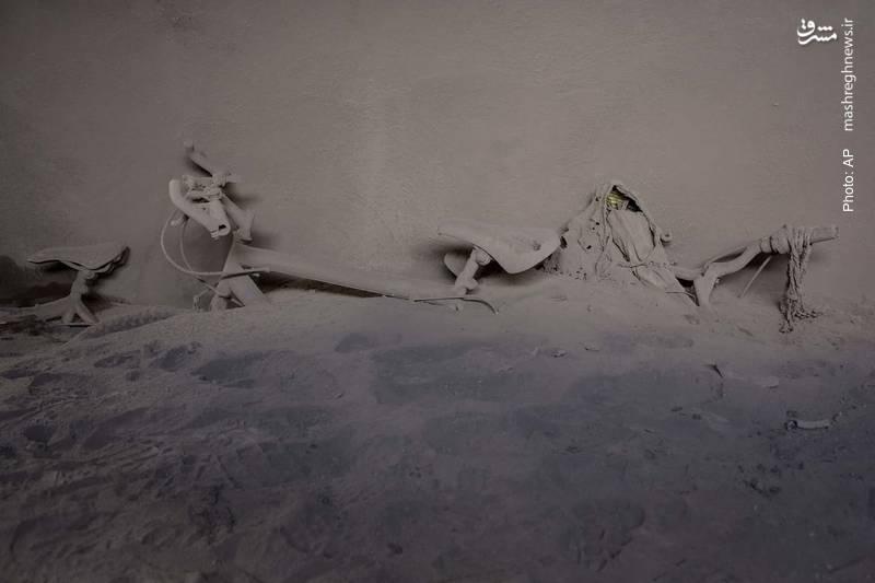 ارتفاع خاکسترهای عظیمی که از آتشفشان در گواتمالا منتشر شد از این تصویر مشخص است
