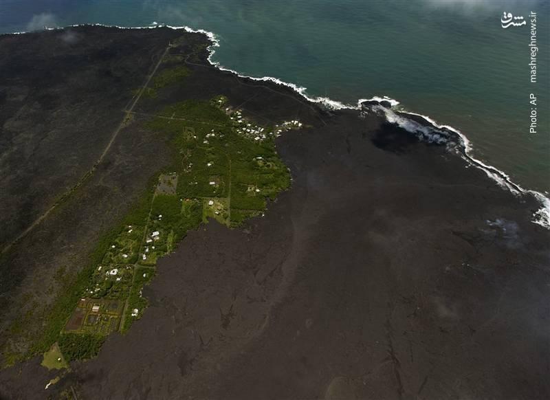 سوختن قسمتهای وسیعی از جزایر هاوایی زیر مواد مذاب آتشفشان