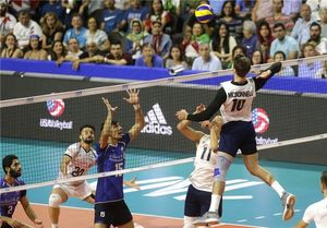 فیلم/ خلاصه بازی والیبال آمریکا ۳-۰ ایران