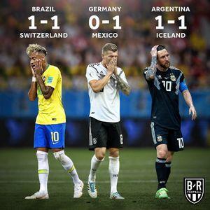 عکس/ نتایج دور از انتظار 3 تیم مدعی جام جهانی2018
