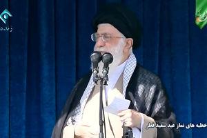 فیلم/ نکته قابل تامل در خطبه عیدفطر رهبرانقلاب