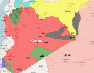 نقشه سوریه نمایه