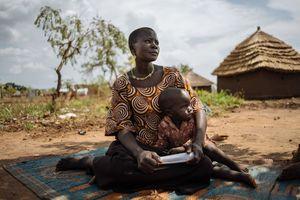 قدم زدن در اردوگاه آوارگان سودان جنوبی+ تصاویر جدید
