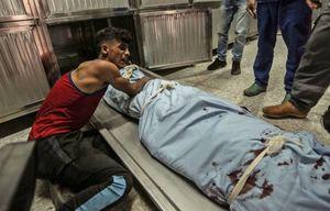 عکس/ شهادت جوان فلسطینی در غزه