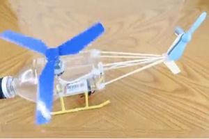فیلم/ ساخت بالگرد دستی با بطری نوشابه!