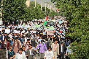 فیلم/ حضور اعتراضی مردم در خیابان های کابل