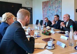 دیدار رئیس سازمان انرژی اتمی ایران با نخستوزیر نروژ