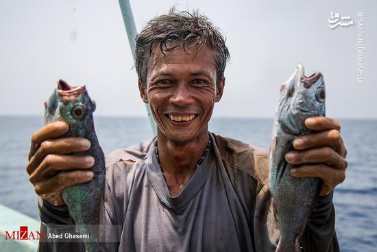 عکس/ صیادی چینیها در خلیج فارس