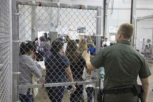 آمریکا مهاجران را در قفس نگهداری میکند +عکس