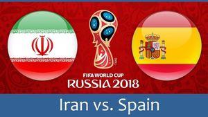 استوری پیج فیفا برای بازی امروز ایران و اسپانیا