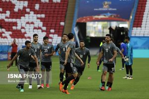 عکس/ تمرین تیم ملی فوتبال پیش از بازی با اسپانیا
