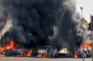 """فیلم/ آتش سوزی در پمپ بنزین""""بندر کنگ"""""""