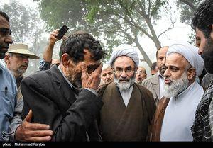 عکس/ بازدید نماینده ولی فقیه از مناطق سیل زد