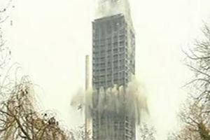 فیلم/ تخریب اکشن برج غول پیکر!