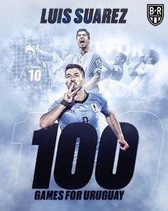 عکس/ رکورد سوارز در تیم ملی اروگوئه