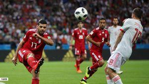 نیمه اول ایران مقابل اسپانیا در کازان