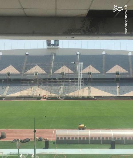 عکس/ حال و هوای ورزشگاه آزادی قبل از دیدار ایران و اسپانیا