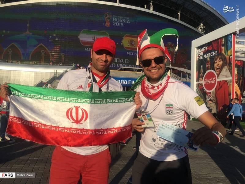 حضور پرشور ایرانیها در کازانآرنا