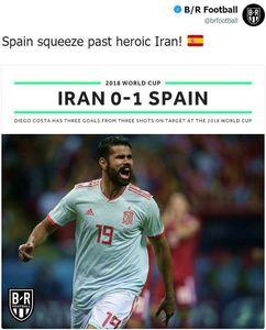 تیتر بلیچر ریپورت پس از برد اسپانیا برابر ایران