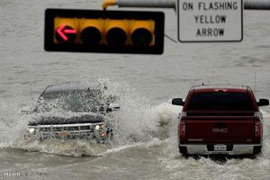 عکس/ ایالت تگزاس را آب بُرد!