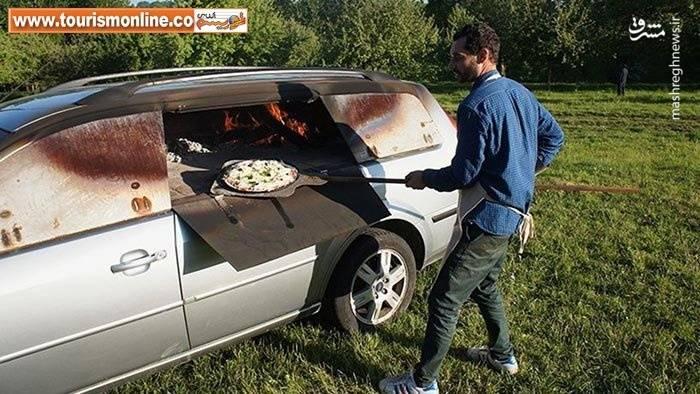تبدیل ماشین قدیمی به فر پخت پیتزا