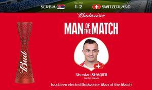 بهترین بازیکن مسابقه سوئیس و صربستان