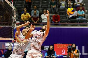 مسابقه والیبال تیمهای ملی ایران و کره جنوبی