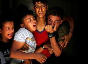 درد و دل پدر و پسر فلسطینی +عکس