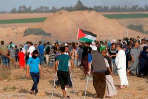 راهپیمایی بازگشت در مرز نوار غزه