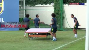 فیلم/ تنیس فوتبال بازیکنان برزیل در تمرین