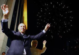 عکس/ جشن پیروزی اردوغان درمیان هوادارانش