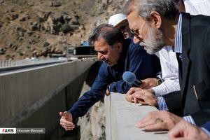 عکس/ بازدید لاریجانی از آزادراه تهران-شمال
