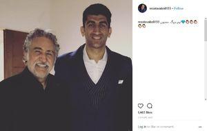 «رضا توکلی» در کنار مرد شماره یک بازی ایران و پرتغال +عکس