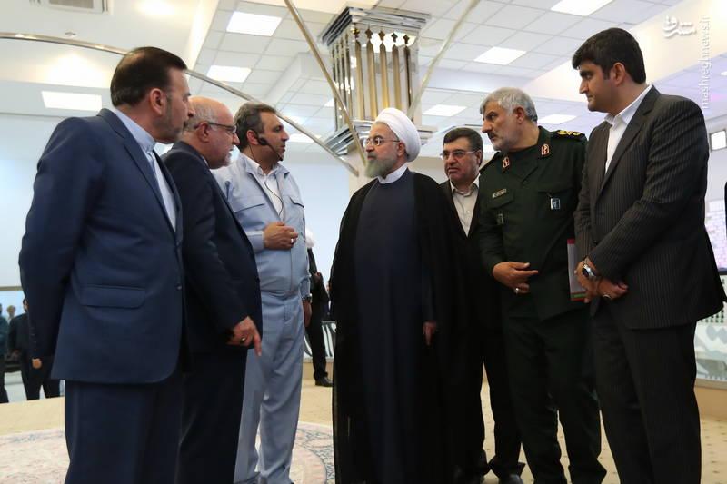 افتتاح فاز دوم پالایشگاه ستاره خلیجفارس با حضور روحانی