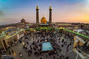 عکس/ آیین تعویض پرچم گنبد حضرت عبدالعظیم حسنی(ع)