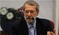 عیادت رئیس مجلس از آیتالله امینی +عکس