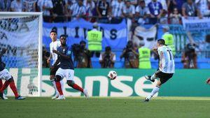 فیلم/ گل اول آرژانتین به فرانسه؛ سوپر گل دی ماریا