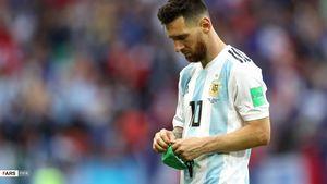 عکس/وداع مسی با جام جهانی