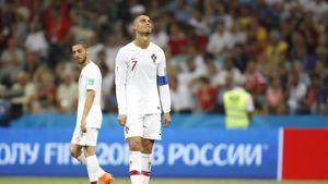 عکس/ حال و روز رونالدو پس از حذف پرتغال از جام جهانی