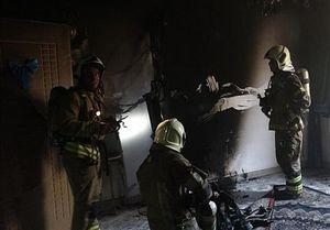 آتشسوزی ساختمان ۵ طبقه