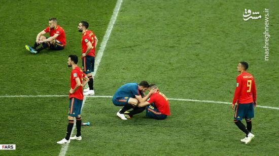 عکس/شکست غیرمنتظره اسپانیا مقابل میزبان