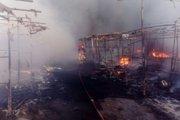 تشکیل پرونده برای آتش سوزی بازارچه گلشهر