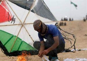 نگاهی به تشکیل واحد بادبادکهای آتشین در غزه +عکس