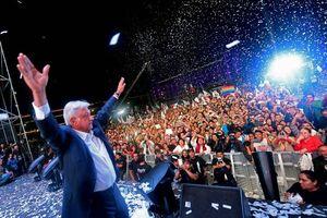 عکس/ جشن انتخاباتی رئیس جمهور جدید مکزیک