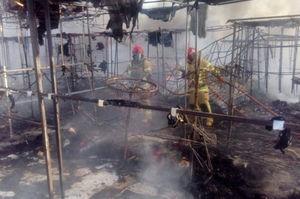 فیلم/ گلایه های کسبه بازار آتش گرفته گلشهر کرج