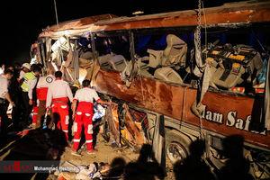 29 کشته و مصدوم در واژگونی اتوبوس سبزوار